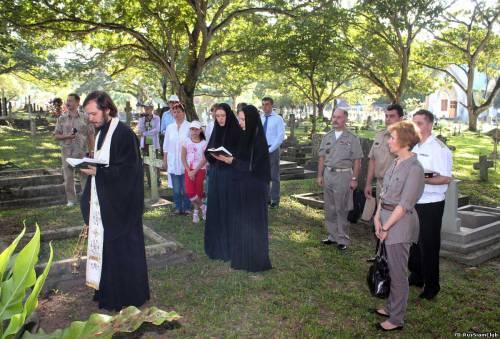 лития на христианском кладбище джорджтауна